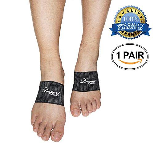 ot Arch Support, Longwei Compression Copper Arch Support Sleeve for Relief of Foot Pain, Plantar Fasciitis Support Foot Brace for Treatment of Flat Feet Arch Support, Heel Spur ()