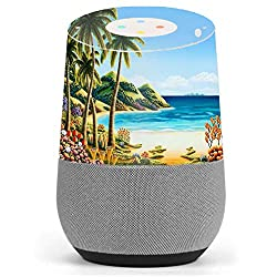 Skin Decal Vinyl Wrap for Google Home stickers skins cover/ Beach Water Palm Trees