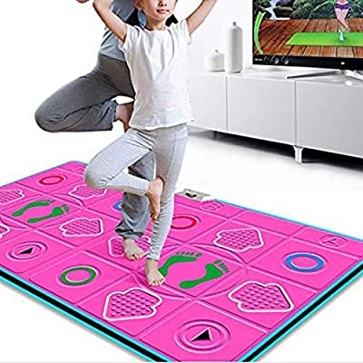 Double Dance Mat, Dance Machine TV Interface LED 3D Running Blanket Yoga Game Machine Silicone Massage Learning Machine HD Quality Light for Children: Home & Kitchen