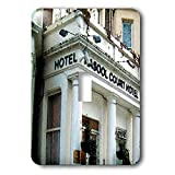 3dRose Jos Fauxtographee- London Watercolor Hotel - The Rasool Hotel in London done in a watercolor effect - Light Switch Covers - single toggle switch (lsp_291340_1)