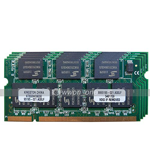 FidgetGear New 4GB KIT 4x1GB PC2700 2700 DDR 333mhz 200Pin CL2.5 SODIMM Laptop Memory SDRAM