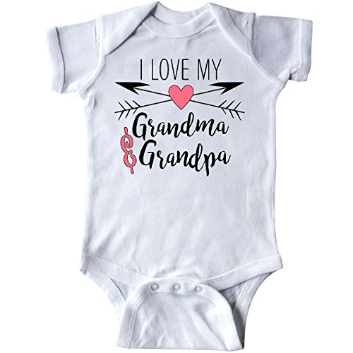 inktastic - I Love My Grandma and Grandpa Infant Creeper 6 Months White 2a520 ()