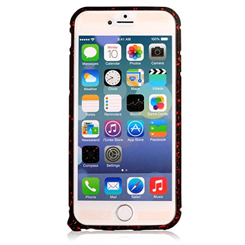 Rose Red Luxury Ultra Thin Slim Aluminum Metal Bumper Frame Iphone 6 5.5 Inch Case Star Pattern Case-slim Protective Case Designed for the Iphone 6 Plus