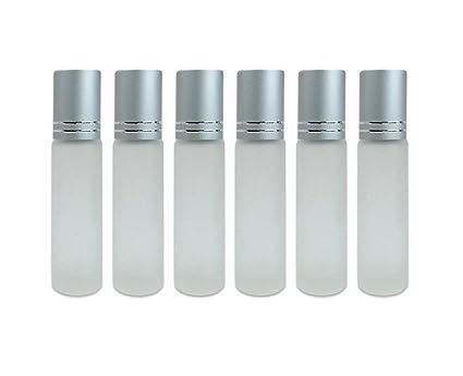 10 ml botellas de vidrio para aceites esenciales Roller Botellas con Roll pelotas para fragancia aceites