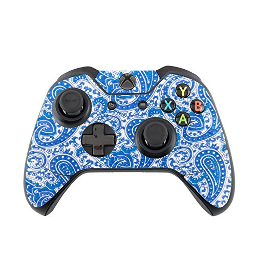 Blue Paisley Pattern Xbox One Controller Vinyl Decal Sticker Skin by Debbie's Designs