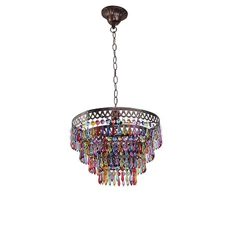 Lámpara de techo con flecos de Asia Sur-Oriental/Lámpara de ...