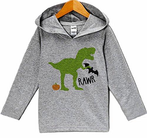 7 ate 9 Apparel Dinosaur Halloween Hoodie 5T Grey ()