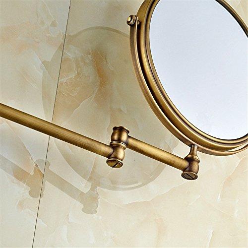 Leyden TM Antique Brass Wall Mount 3x Magnifying Adjustable Folder Make up Mirror Dual Sides Mirror by Leyden (Image #3)