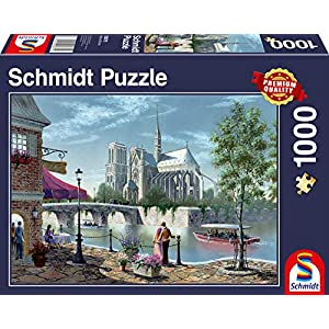 Schmidt Spiele 58375 Puzzlenotre Dame De Paris 1000 Pezzi Multicolore