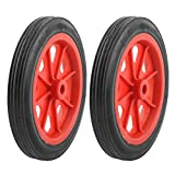uxcell® Shopping Basket Cart 4.4 Inch Wheels 2 Pcs Red Black