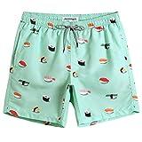 MaaMgic Mens Boys Short Swim Trunks Cute Mens Bathing Suits Slim Fit Swim Shorts Swimsuit for Men