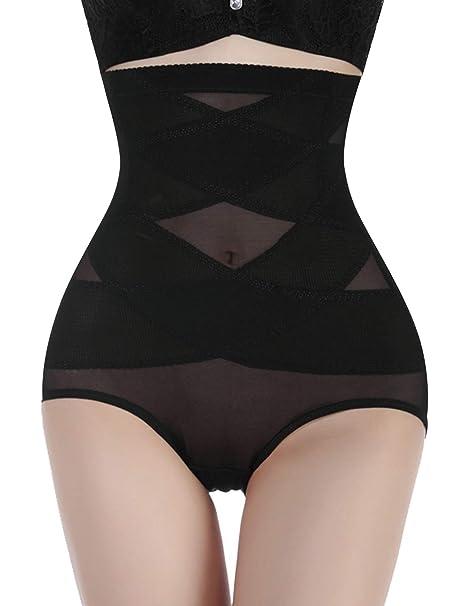 c5ba75d84e Nebility Women Butt Lifter Shapewear Hi-Waist Double Tummy Control Panty Waist  Trainer Body Shaper