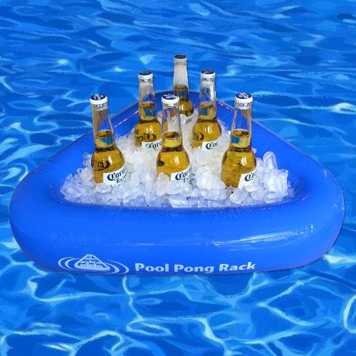 Gopong Pool Pong Rack Floating Beer Pong Set Includes 2