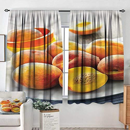 Dylan Crop - Anzhutwelve Peach,Kitchen Curtains Horticultural Crops Plate 52