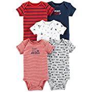 Carter's Baby Boys 5 Pack Bodysuit Set, All Star, 12 Months