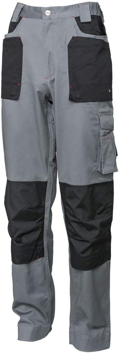 Industrial Starter 8028C0002009 Pantaloni Elasticizzati da Lavoro Grigio//Nero S