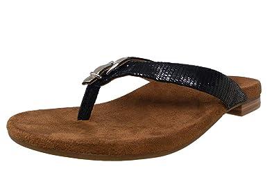 76813a2ca19c Vionic Lima - Womens Heeled Sandal - Orthaheel Black Lizard - 9