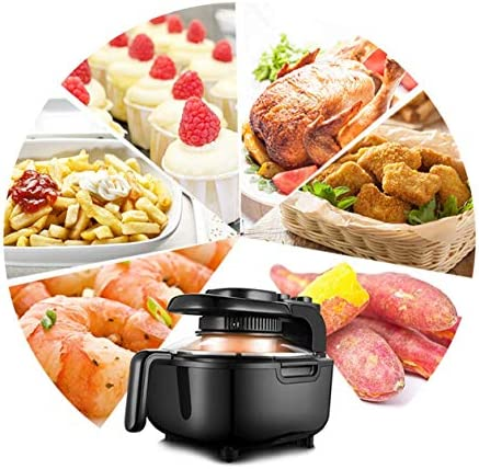 Air Fryer, 220V 1100W 5L Household Oil-Free Electric Fryer met temperatuurregeling en Timer for Healthy Vetarm koken Bakken en grillen 8bayfa