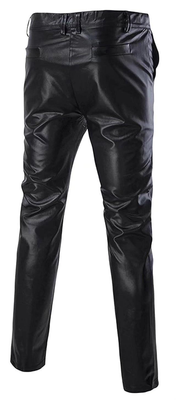DigerLa Mens Fashion Night Club Metallic Shiny Pants