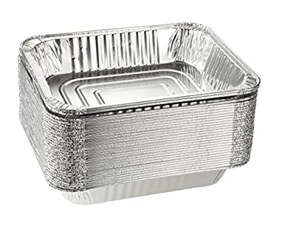 Aluminum Foil Pans - 30-Piece Half-Size Deep Disposable Steam Table Pans for Baking, Roasting, Broiling, Cooking, 12.75 x 2.25 x 10.25 by Juvale