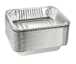 Aluminum Foil Pans - 30-Piece Half-Size Deep Disposable Steam Table Pans for Baking, Roasting, Broiling, Cooking, 12.75 x 2.25 x 10.25