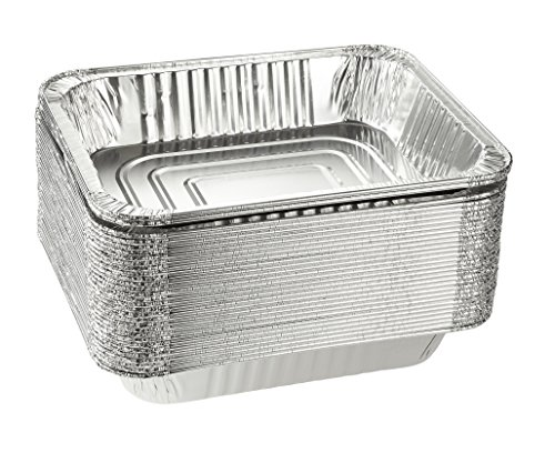 30 Pans Bread - Aluminum Foil Pans - 30-Piece Half-Size Baking Tins, Deep Disposable Steam Table Pans for Serving, Roasting, Broiling, Cooking, For Temperatures Up To 500-F, 12.75 x 2.25 x 10.25