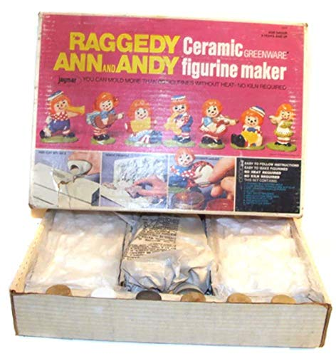 1974 Vintage Bobbs-Merrill Raggedy Ann & Andy Doll Ceramic Figure Maker - Maker Doll Andy