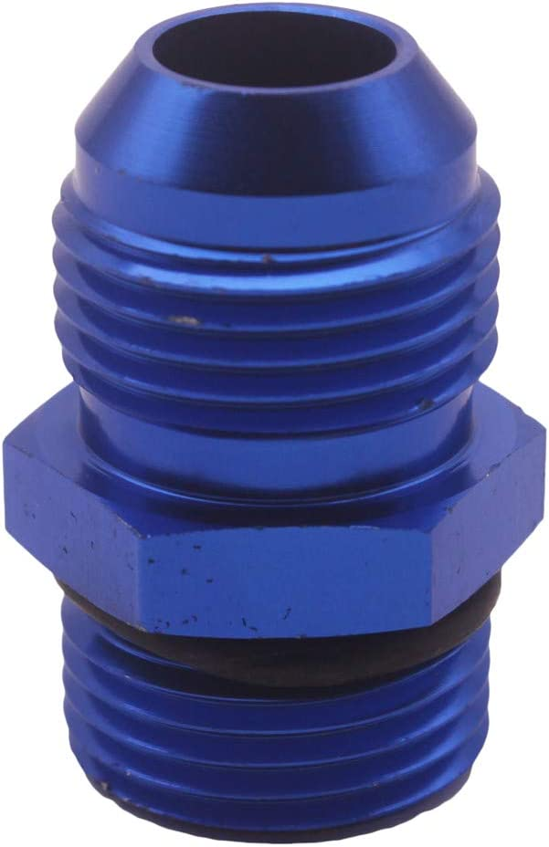 Flameer 2 Pieces 10AN To 10 ORB O Boss Adapter AN Fitting BLUE 6061-T6 Aluminum