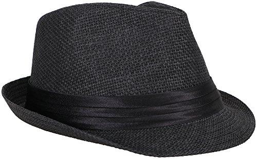 (Verabella Fedora Hat Women/Mens Summer Short Brim Straw Fedora Sun)
