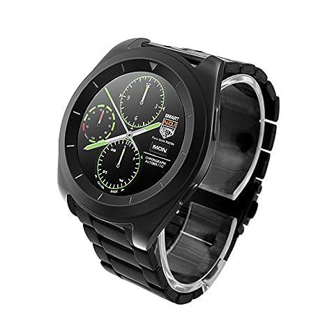 Reloj inteligente Bluetooth núm.1 G6 con monitor de ritmo cardíaco, podómetro. Reloj inteligente para iOS iPhone, Android: Amazon.es: Electrónica