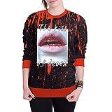 Blouses Shirts Mitiy Women Halloween Blood 3D Printing Long Sleeve Hoodie Sweatshirt Pullover Top