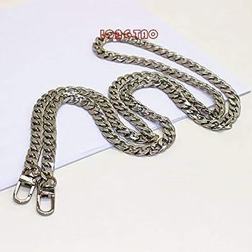 Image Unavailable. Image not available for. Color  LONG TAO 47 quot  DIY  Iron Flat Chain Strap Handbag Chains Accessories Purse Straps Shoulder Cross fc126669ead30