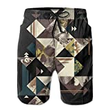 ZAPAGE Skull And Bald Eagle Boy's Quick Dry Boardshorts Printed Surf Shorts With Pocket