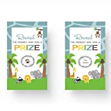 Paper Clever Party Jungle Baby Shower Scratch Off Game Cards