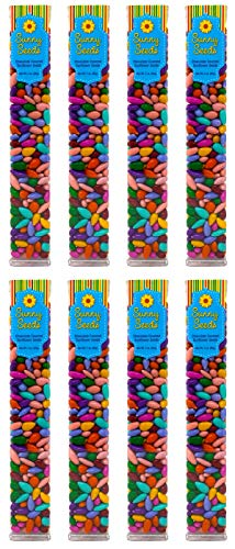 Chocolate Covered Sunflower Seeds Multicolored Candy Coated Treats - Rainbow Party Favors - Sweet and Crunchy Topping - Pack of 8