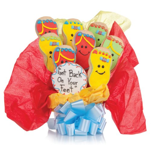 Back on your Feet! Cookie Bouquet- 9 Pc Bouquet