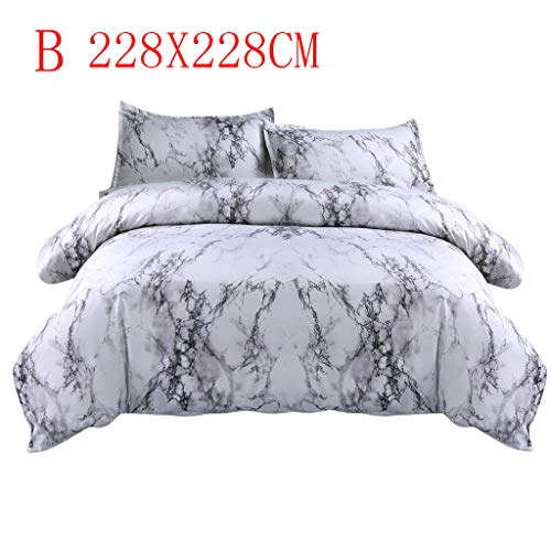 - IAMUP Simple Marble Bedding Duvet Cover Set Quilt Cover Twin King Size with Pillow Case