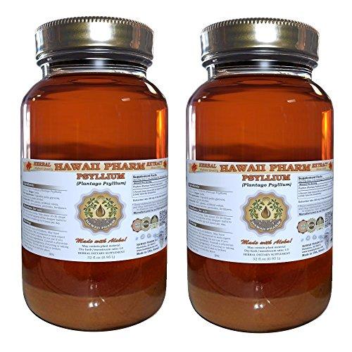 Psyllium Liquid Extract, Psyllium (Plantago Psyllium) Tincture 2x32 oz by HawaiiPharm