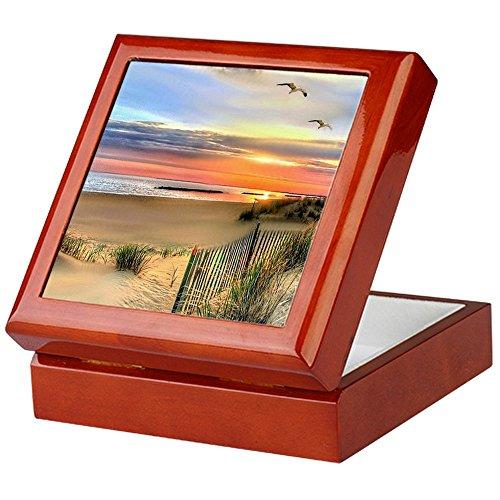 CafePress - Cape Hatteras Lighthouse - Keepsake Box, Finished Hardwood Jewelry Box, Velvet Lined Memento Box