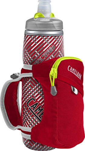 CamelBak Quick Grip Chill 21 oz Water Bottle, One Size, Crimson Red/Lime Punch