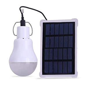 EleLight Portable Solar LED Bulb Lights Solar Powered Chicken Coops Light with 3.5M Solar Panel for Camping Tent Fishing Hiking Chicken Coop Shed Lighting(140LM 1600mAh)