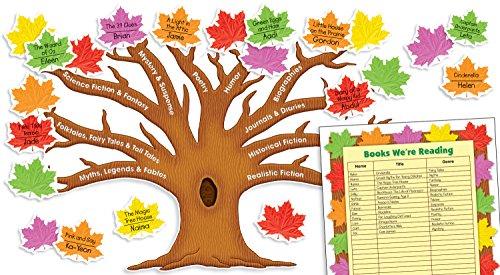 Scholastic Teacher's Friend Reading Genres Tree Bulletin Board, Multiple Colors (TF8421)
