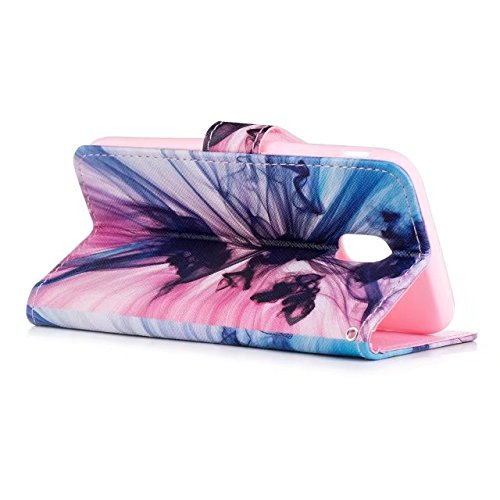 COWX Samsung Galaxy J3 2017 Hülle Kunstleder Tasche Flip im Bookstyle Klapphülle mit Weiche Silikon Handyhalter PU Lederhülle für Samsung Galaxy J3 2017 Tasche Brieftasche Schutzhülle für Samsung Gala QIUVZk