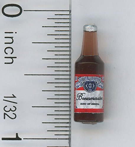 Dollhouse Miniature 1:12 Scale Brown Bottle of Beer by Cindi's (Mini Miniature Bottle)