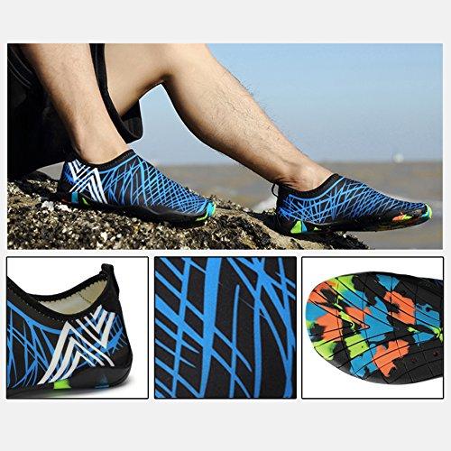 Kealux Uomo Donna A Piedi Nudi Quick-dry Sport Acquatici Scarpe Sneakers Multifunzionali Con Fori Di Drenaggio Per Nuotare, Camminare, Yoga, Lago, Spiaggia, Giardino, Parco, Guida, Canottaggio Blu