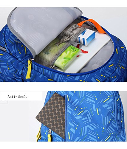 Backpack Bag Waterproof And University Female Junior High Blue Male Leisure School Travel Student Light qCvYAg