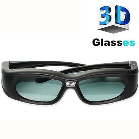 HUYAN1 3D Link DLP Gafas 3D Gafas con Obturador Activo Recargables ...