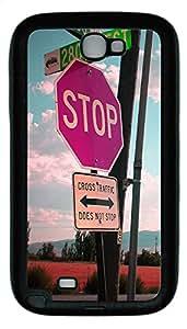 Samsung Note 2 Case Traffic Signs TPU Custom Samsung Note 2 Case Cover Black