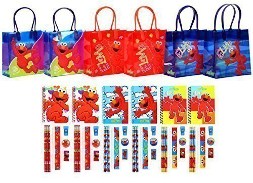 Sesame Street Elmo Party Favor Stationery Set - 6 Pack (54 Pcs) by Goodyplus
