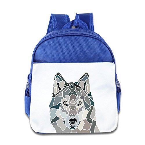(Hello-Robott The Wolf Vector School Bag Backpack RoyalBlue)